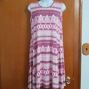 NWT Style and Co sleeveless shift swing dress